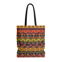 Orange & Yellow Tribal Tote Bags Large