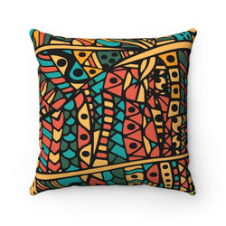 Orange Doodle Pillow Home Decor 14x14