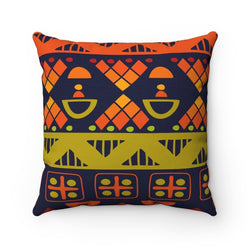 Orange & Yellow Tribal Pillow Home Decor 14x14
