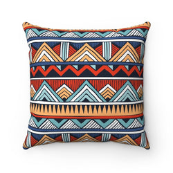 Red & Blue Tribal Pillow Home Decor 14x14