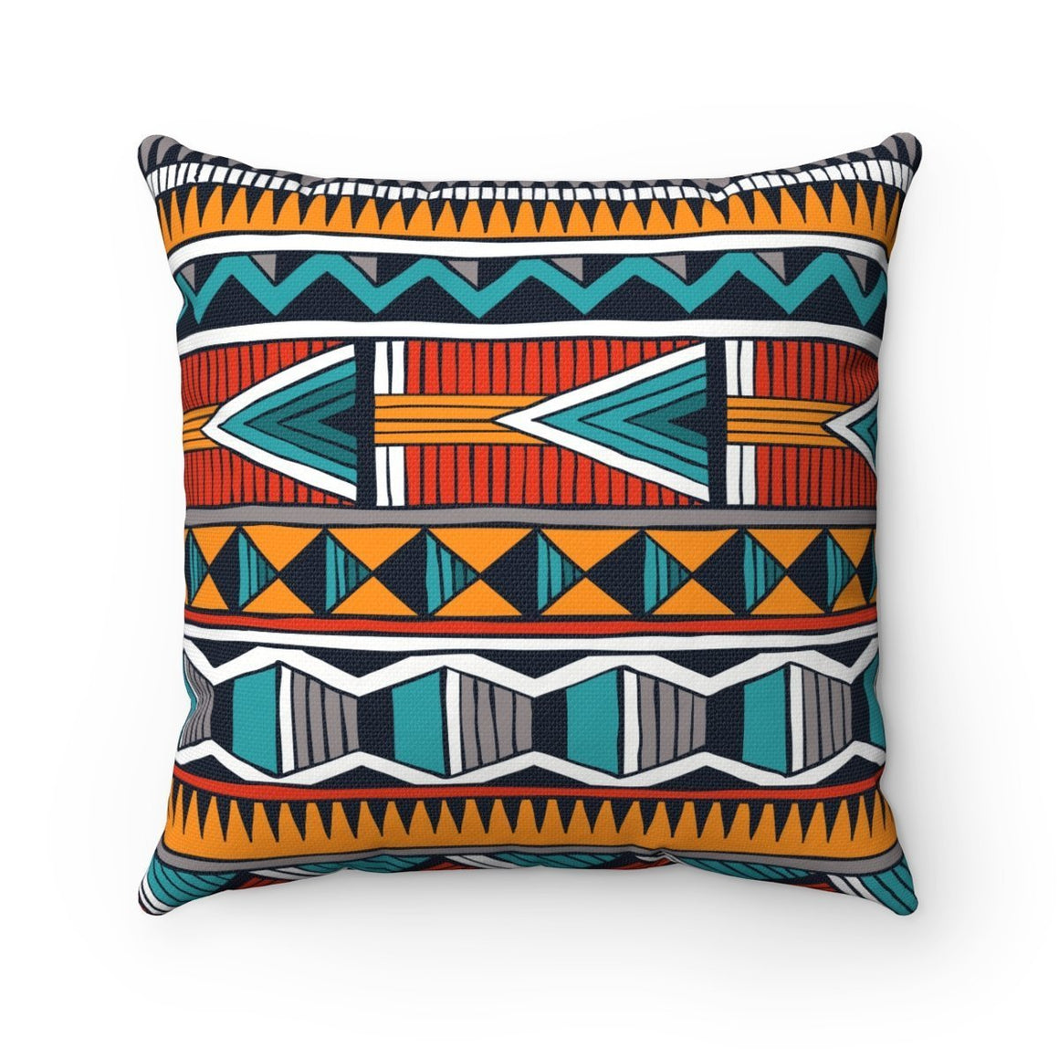 Triangle Tribal Pillow Home Decor 14x14