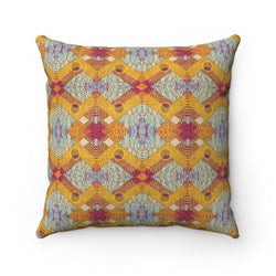 Yellow Diamond Pillow Home Decor 14x14