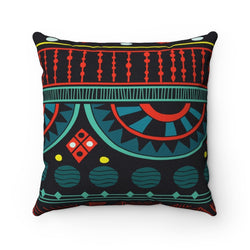 Aqua Tribal Pillow Home Decor 14x14