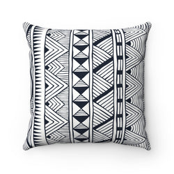 Black Tribal Pillow Home Decor 14x14