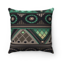 Green Mosaic Pillow Home Decor 14x14