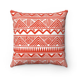 Red Tribal Pillow Home Decor 14x14