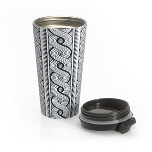 Black Tribal Tumbler Mug