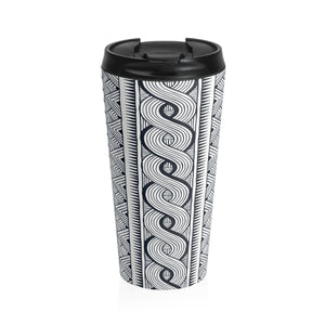 Black Tribal Tumbler Mug Travel Mug