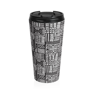 Luxury B&W- Flower Tumbler Mug Travel Mug