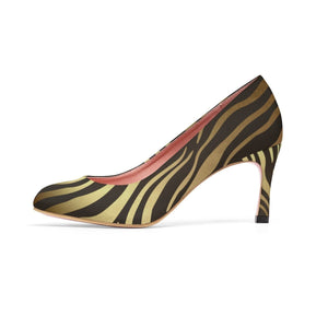 Luxury Gold- Tiger Heels Shoes