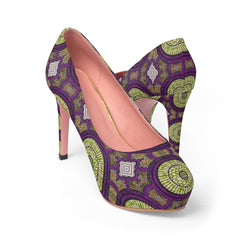 Modern Purple Platform Heels Shoes US 10