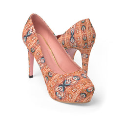 Orange Blossom Platform Heels Shoes US 10