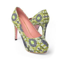 Traditional Lime Green Platform Heels Shoes US 10