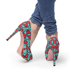 Pink Kaleidoscope Platform Heels Shoes US 10