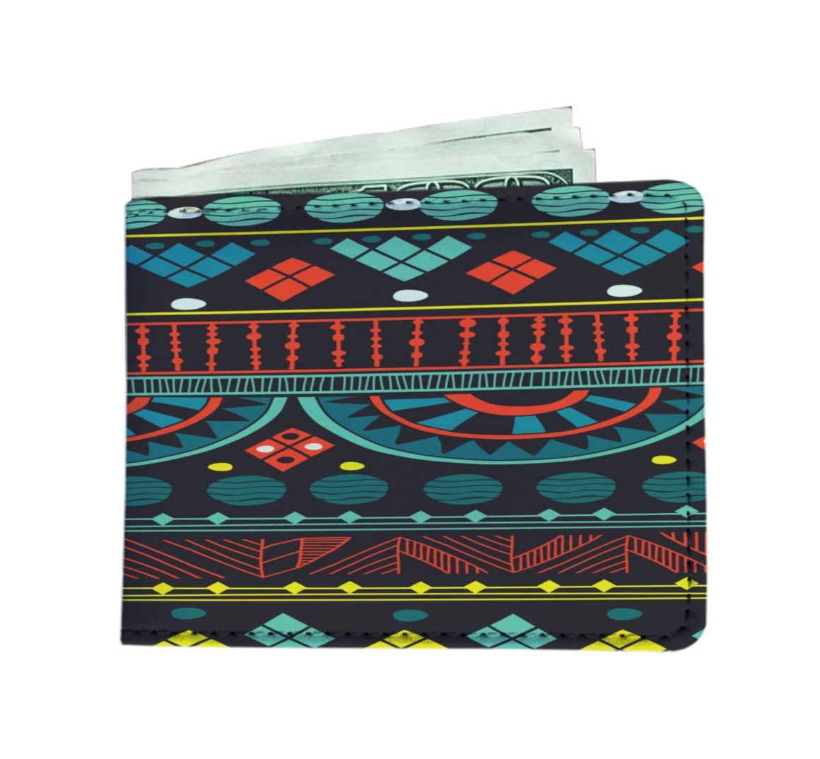 Aqua Tribal Men's Wallet Mens Wallet