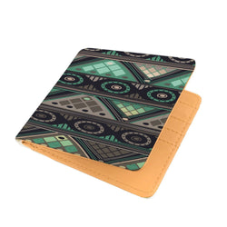 Green Mosaic Men's Wallet Mens Wallet