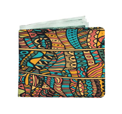 Orange Doodle Men's Wallet Mens Wallet