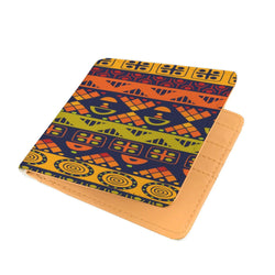 Orange & Yellow Tribal Men's Wallet Mens Wallet