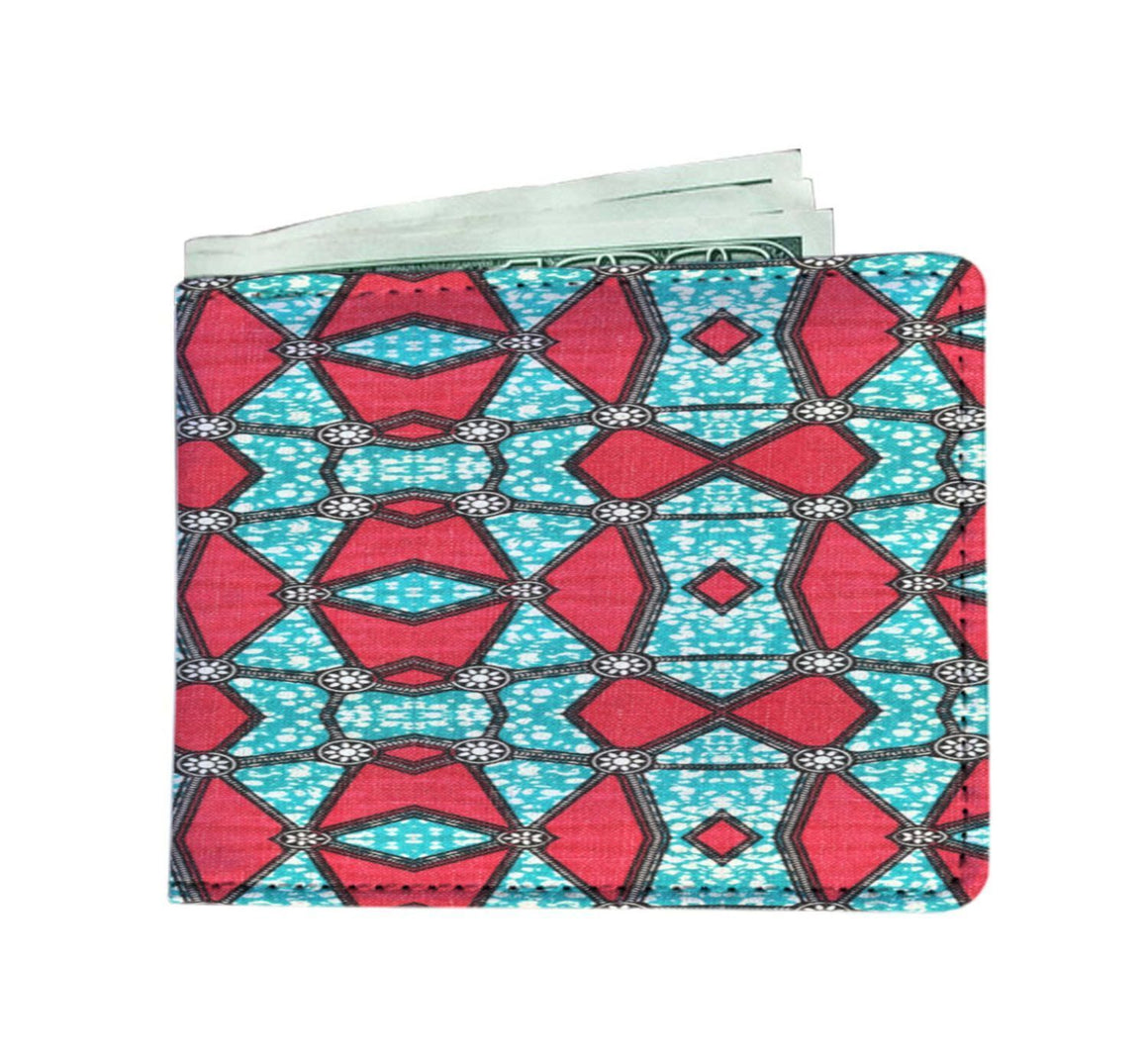 Pink Kaleidoscope Men's Wallet Mens Wallet