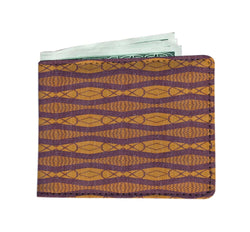 Purple Ripple Men's Wallet Mens Wallet