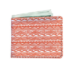 Red Tribal Men's Wallet Mens Wallet
