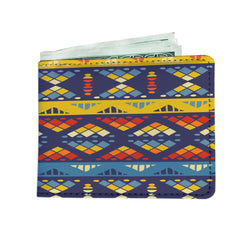 Yellow & Blue Mosaic Men's Wallet Mens Wallet