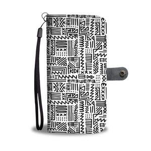 Luxury B&W- ZigZag Wallet Case Wallet Case