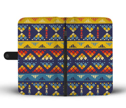 Yellow & Blue Mosaic Wallet Case Wallet Case