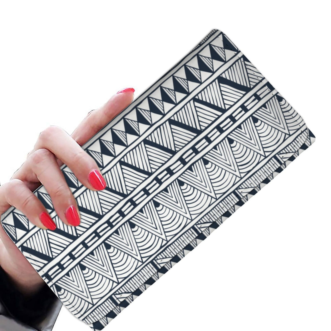 Black Tribal Women's Wallet Womens Wallet
