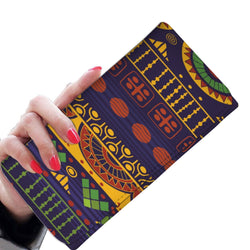 Blue & Yellow Tribal Women's Wallet Womens Wallet