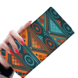 Orange & Blue Mosaic Women's Wallet Womens Wallet