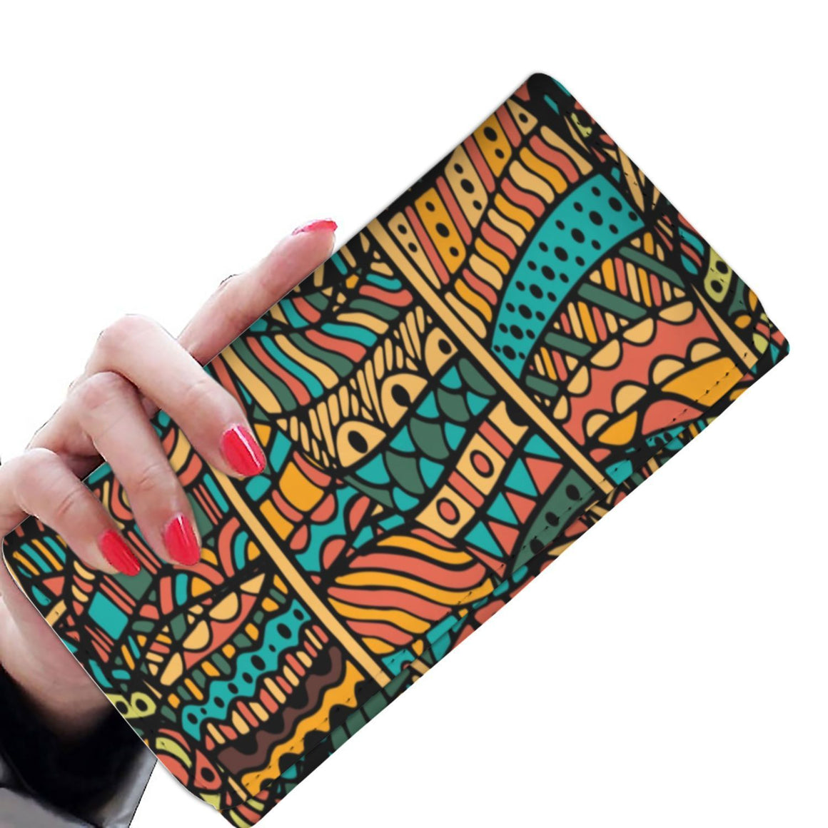 Orange Doodle Women's Wallet Womens Wallet