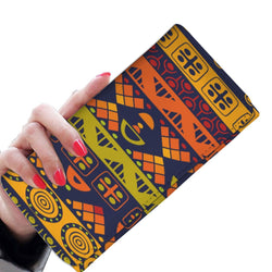 Orange & Yellow Tribal Women's Wallet Womens Wallet