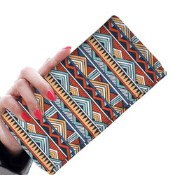 Red & Blue Tribal Women's Wallet Womens Wallet