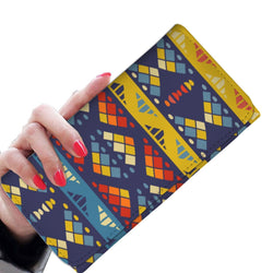 Yellow & Blue Mosaic Women's Wallet Womens Wallet