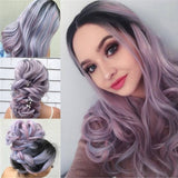 Long Curly Multi-Color Charming Full Wigs for Cosplay Girls Party or Daily Use