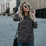 Womens Casual Loose O Neck Long Sleeve Sequined Tops Blouse