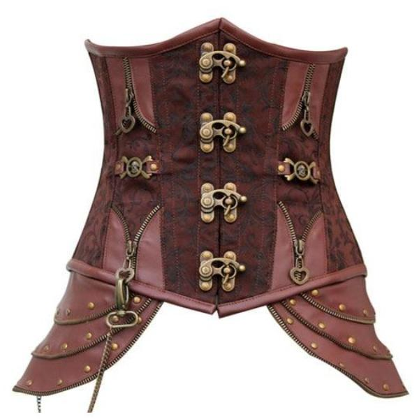 Steampunk Corset Sheath Shoes Lace Up Back