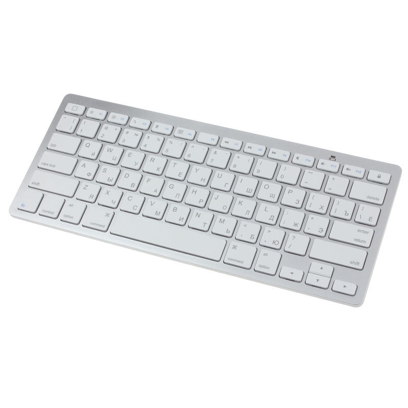 High Quality Slim Mini White Bluetooth Wireless Russian Keyboard For MAC Window keyboard with Russian letters