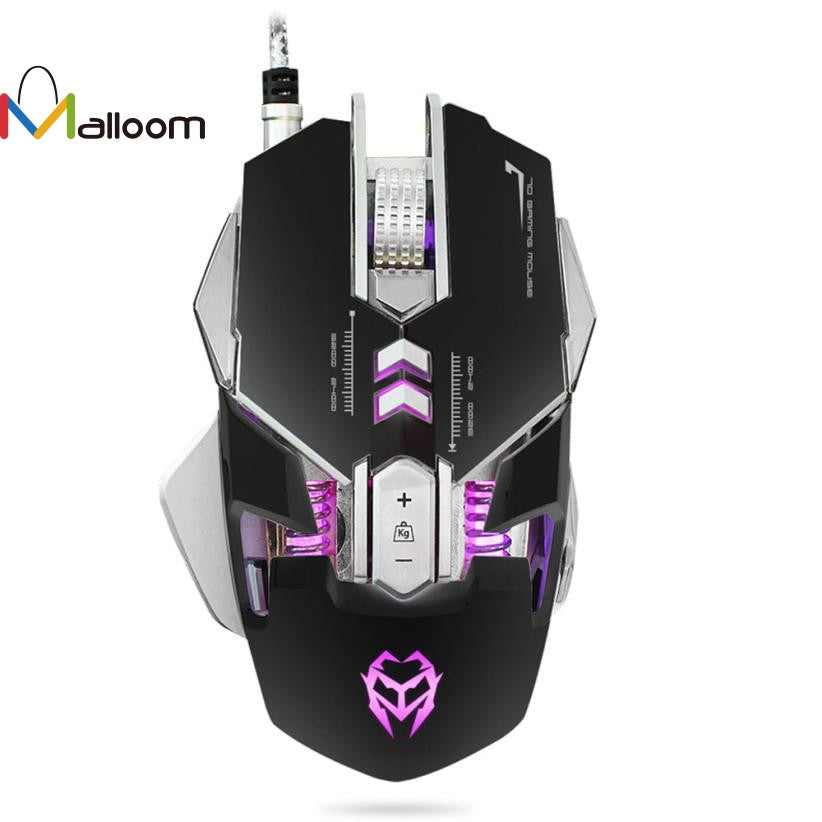Malloom 2017 Wired Mouse Gamer Computer Mouse New 3200DPI Optical Adjustable 7D Button Wired Mechanical Gaming Mouse Mice For PC