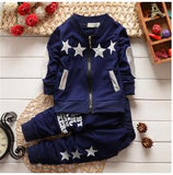 BibiCola Boys Clothing Sets Spring Autumn Children Boys Sport Suit Kids Stars Christmas Clothes Tracksuit Baby Boys Clothing