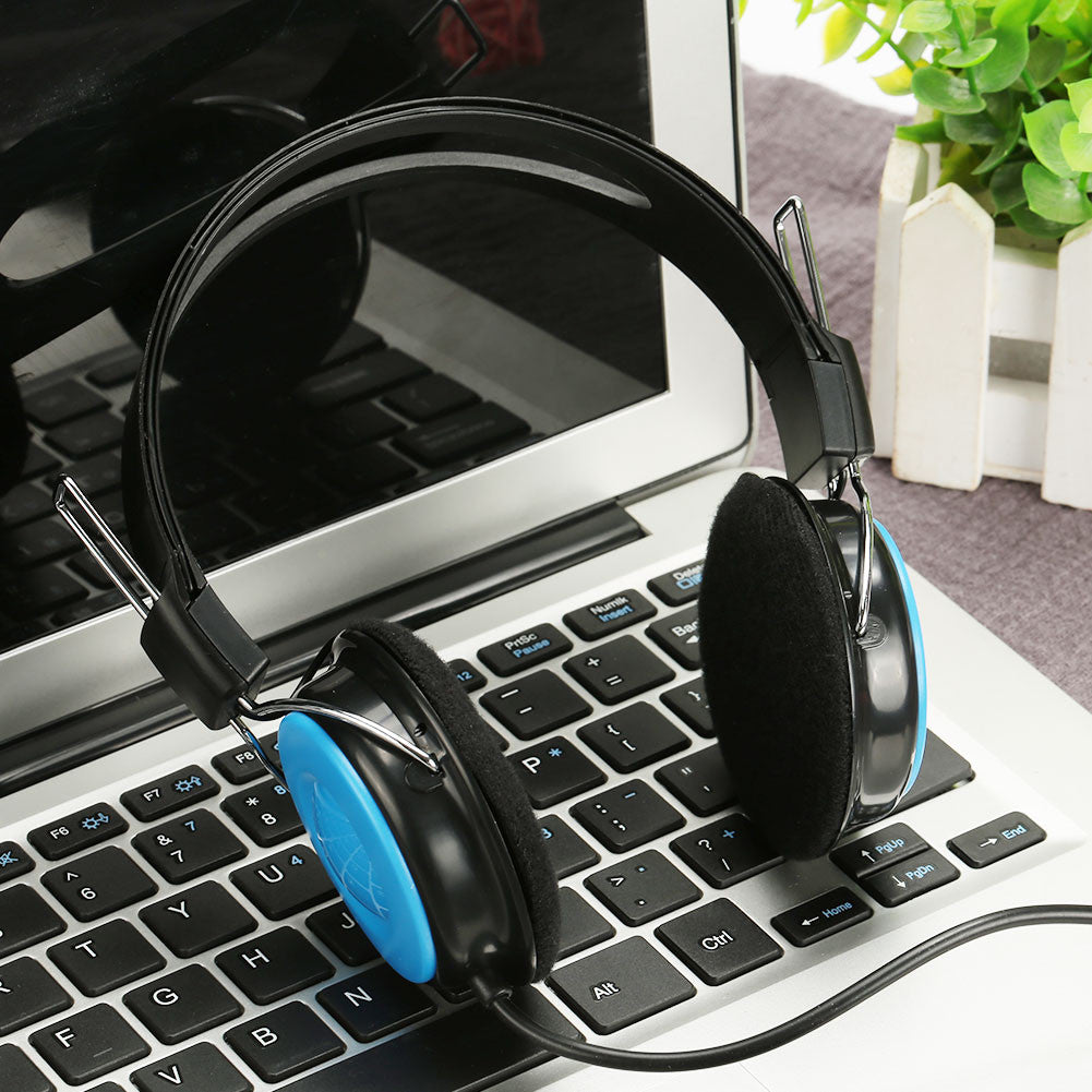Gaming Headset Headphone Compact Laptop for PC Earphone Wired Over Ear Game Players Surround