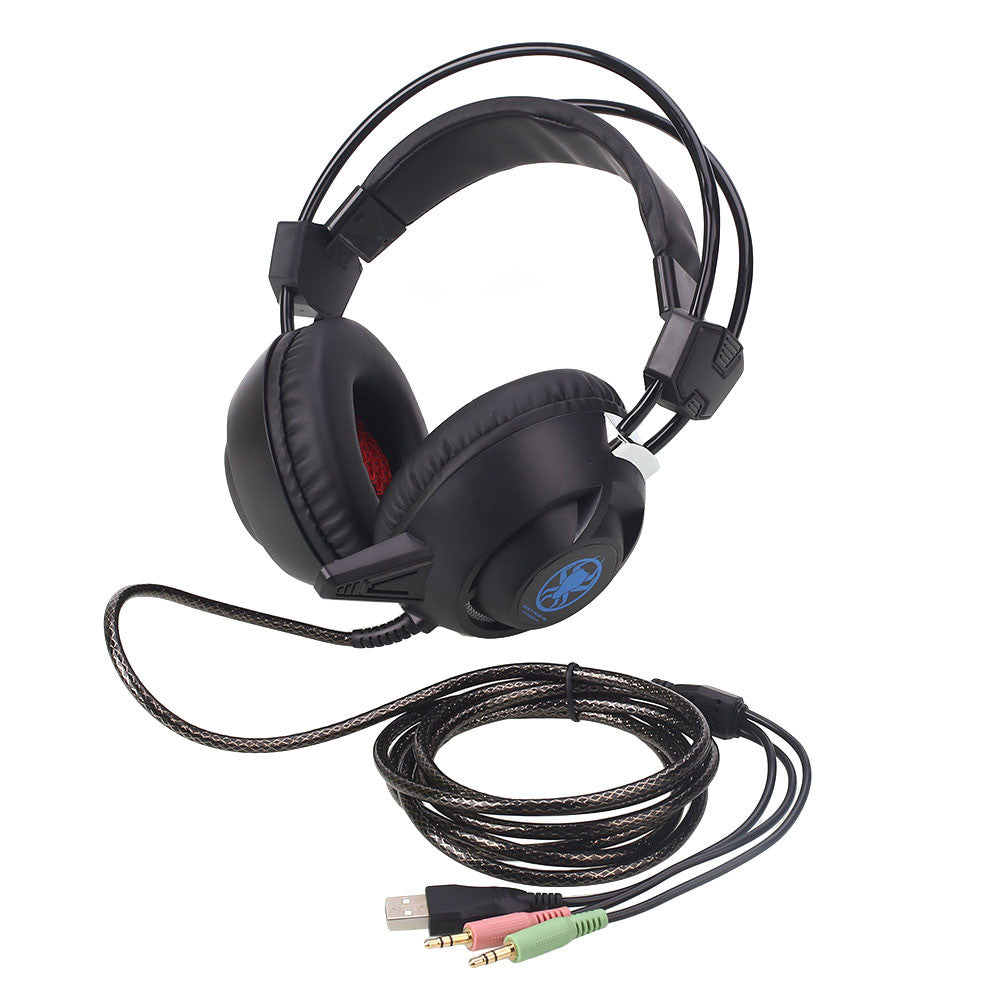 Headphone Gaming Headset Linghting Game Laptop Earphone PC835 Surround Notebook Over-Ear