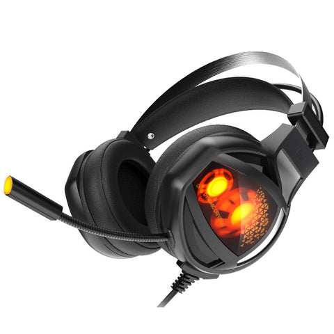 Cool LED Light Changing Computer Headphone Headset USB LED Over-Ear Noise Reduction Gaming Headset