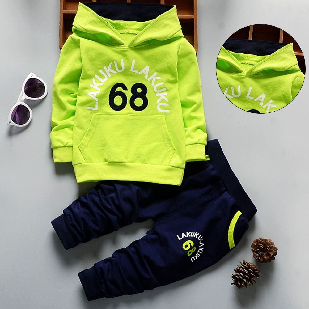 Kids Hoodies Boy Outfit Sports Suit 1-5T