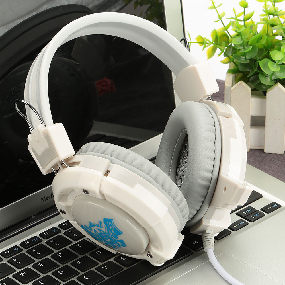 Wired Headphone Earphone Adjustable Travel PC Gaming Headset with Microphone 3.5mm Laptop Notebook