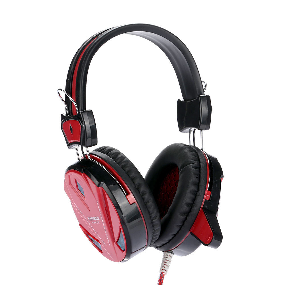 Gaming Headset Earphone Fashion Over-Ear Computer Headset Stereo LED with Mic Noise Reduction