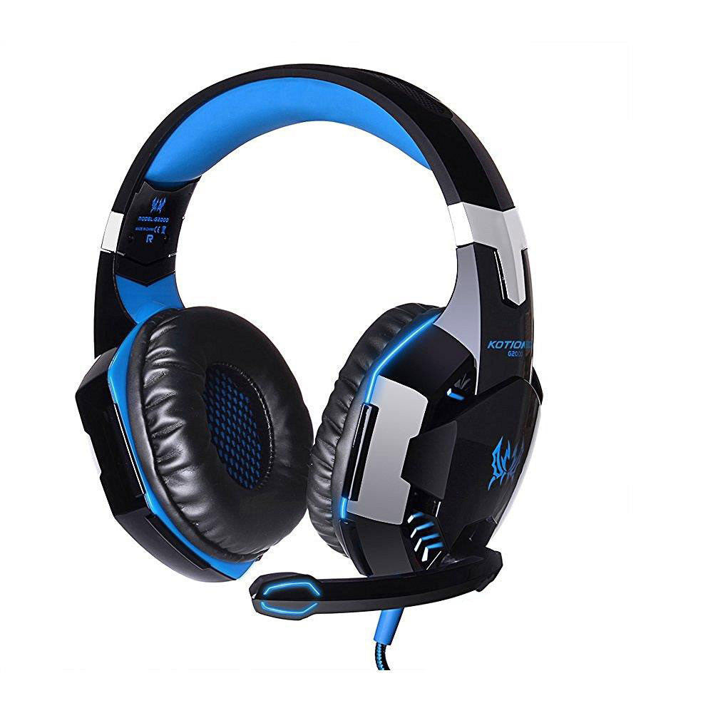 3.5mm Stereo Gaming Headset LED Headband Headphone With MIC For PS4 PC Laptop