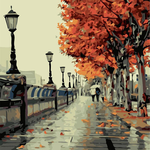New 40*50CM DIY Oil Painting Paint By Numbers Digital Hand-painted Wall Pictures For Livingroom Decoration Painting Canvas Art