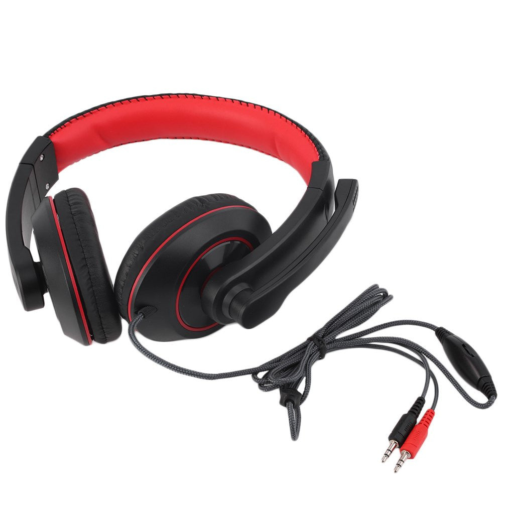 Gaming Headset Surround Hifi Stereo Headband Headphone 3.5mm with Mic for PC